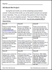 Here is a All About Me Project that does all of these things. It has a project matrix with....: Good Ideas, Website, Teaching Ideas, Houses Ideas, Grade Teaching, Projects Ideas, Families Projects, Projects Choice, Families Work