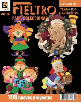 FIELTRO para coleccionar Vol.26 Trabajos navideños y Halloween.