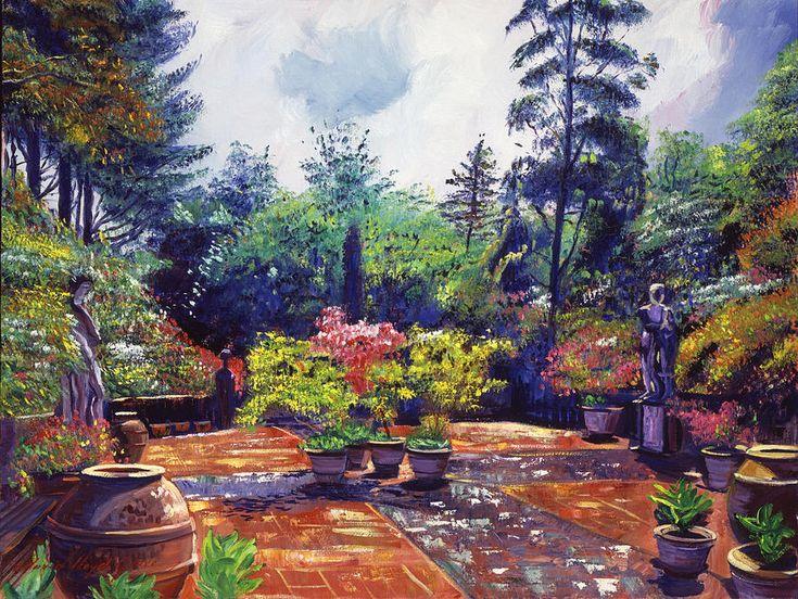 David Lloyd Glover (b.1949) —  Roma Garden, 2014  (900x676)