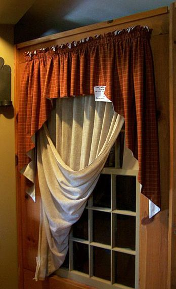 Love This Idea For Window Treatments, Circa 1892 Homestead Primitives By  Carolmay