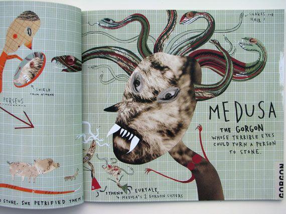 Sara Fanelli - Mythological Monsters book / Medusa