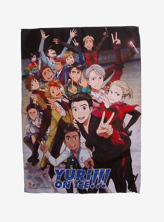 Yuri!!! On Ice Skaters Fabric Poster,