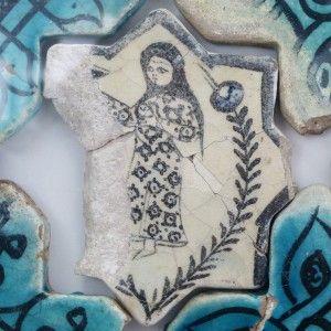 Karatay Medrese, Konya : Single Tile Motifs with Cross Tiles – Haç Karo ile Tek Karo Motifleri-Figural Designs – Figürsel Motifler