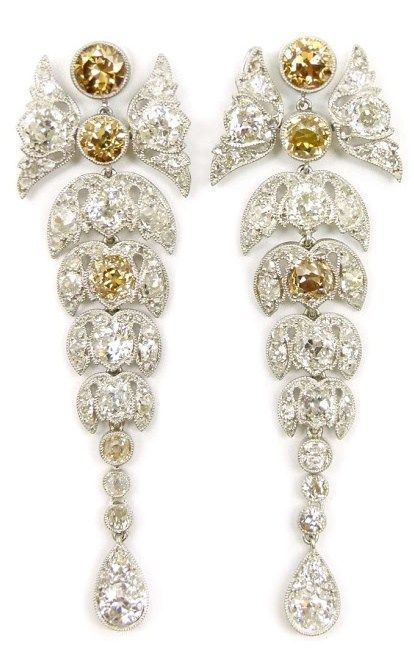 Lovely leafy diamond earrings