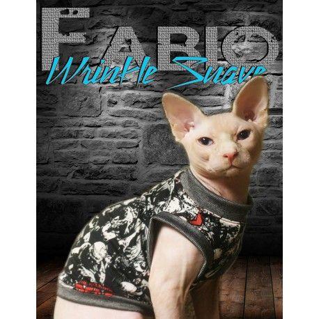 Walking Dead cat Tank Top handmade to keep Sphynx cats warm . https://www.kingtutsnakedbutts.com/