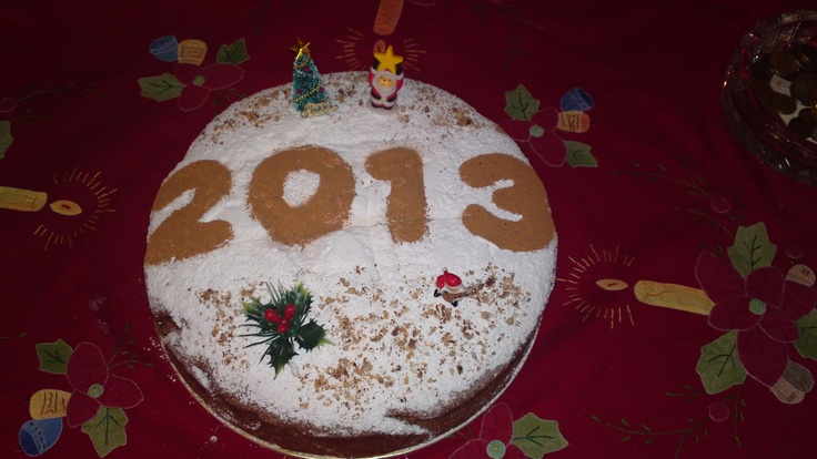 Greek New Year's Cake   (Vasilopita)