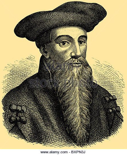 Dr. Johann Georg Faust (c. 1480 – c. 1540), itinerant German alchemist, astrologer and magician of the Renaissance, main charact - Stock Photo