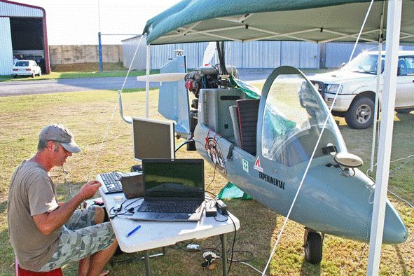 GEO Informatics - 3D Laser Mapping's scanner goes gyrocopter surveying.
