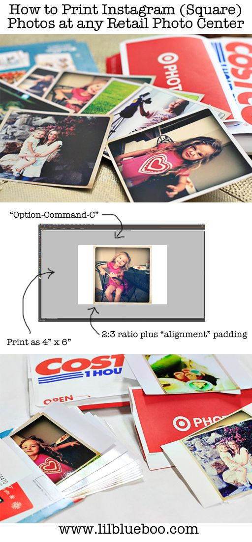 How to Print Instagram (or Square Photos) at Any Retail Photo Center | Lil Blue Boo