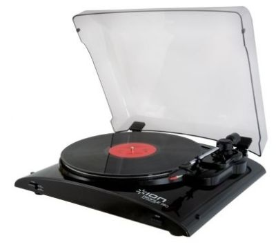 The perfect gift for Dad: ION Profile Pro Vinyl-to-MP3 Turntable with Input #gifts #holidays #christmas