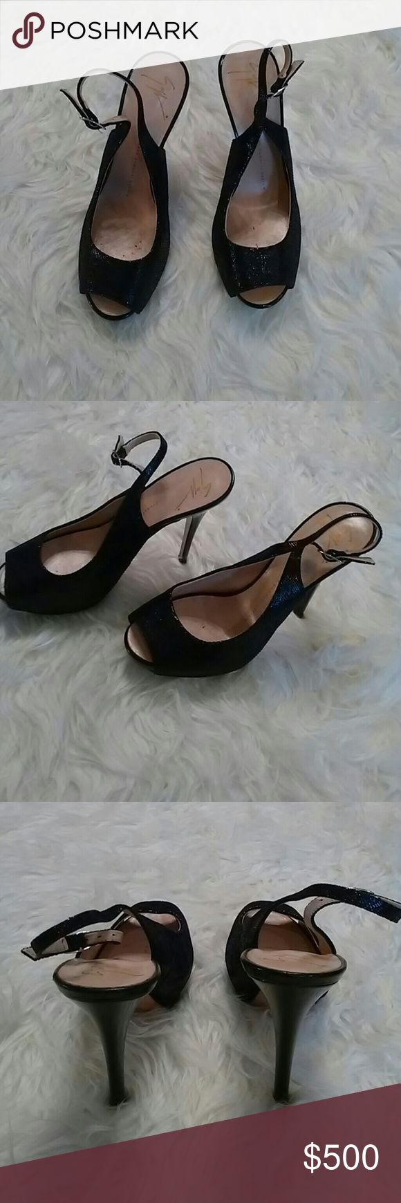Giuseppe zanotti design Black heels, like new condition great for a night out Giuseppe Zanotti Shoes Heels