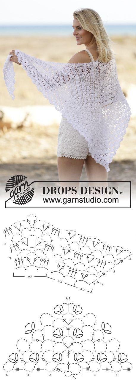 1487 best shawl graph images on Pinterest | Crochet patterns ...