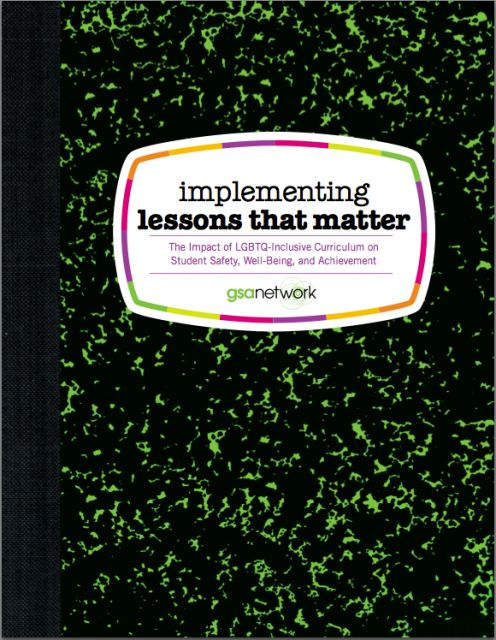 How YOU Can Implement Lessons that Matter | Gay-Straight Alliance Network