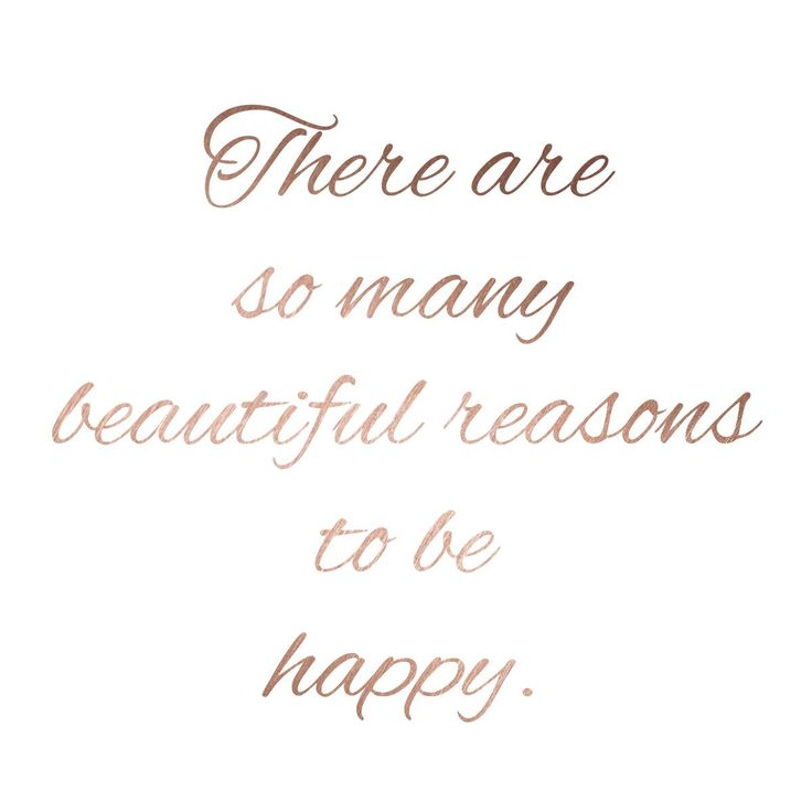 There are so many reasons to be happy. Available in gold and rose gold