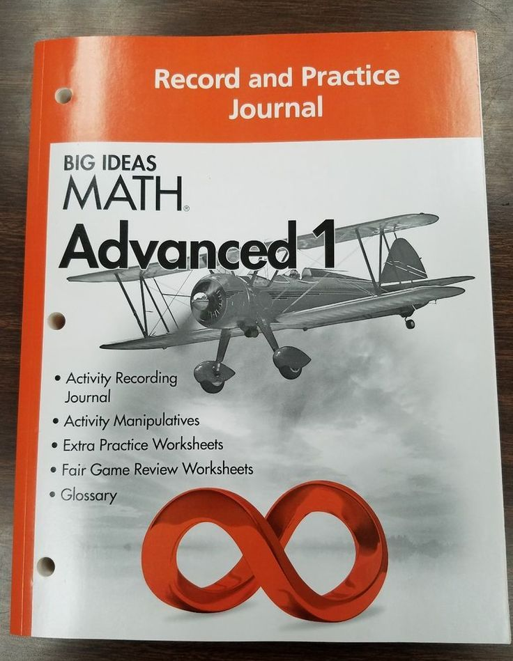 Big Ideas Math Advanced 1 Record And Practice Journal Books Textbooks Ed Advanced Big Books Ed Ideas Journa Big Ideas Math Math Book Journal