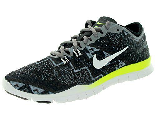 eda1d11c1a1 Nike Women s Free 5.0 Tr Fit 4 Prt Black Ivory Light Ash Mdm