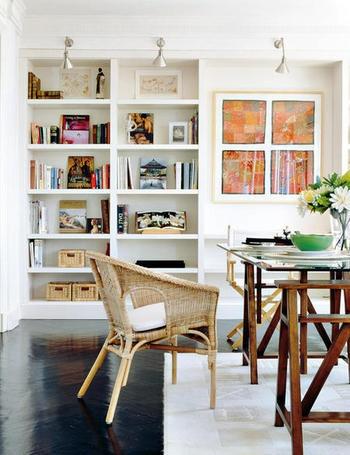 libreria pladur con mesa estudio