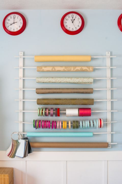 DIY Wrapping paper station