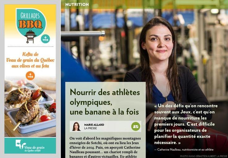 Nourrir des athlètes olympiques - La Presse+