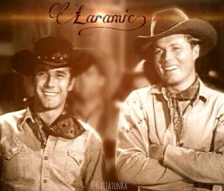 "Robert Fuller and Co-Actor, in ""LARAMIE"" TV Series, ... as in Wyoming."