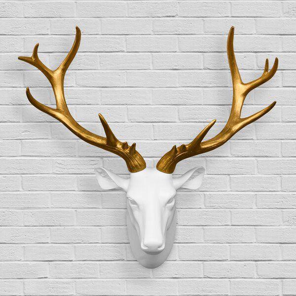 Mule Deer Antler Wall Decor In 2020 Antler Wall Decor Deer Antler Wall Decor Faux Deer Head Wall