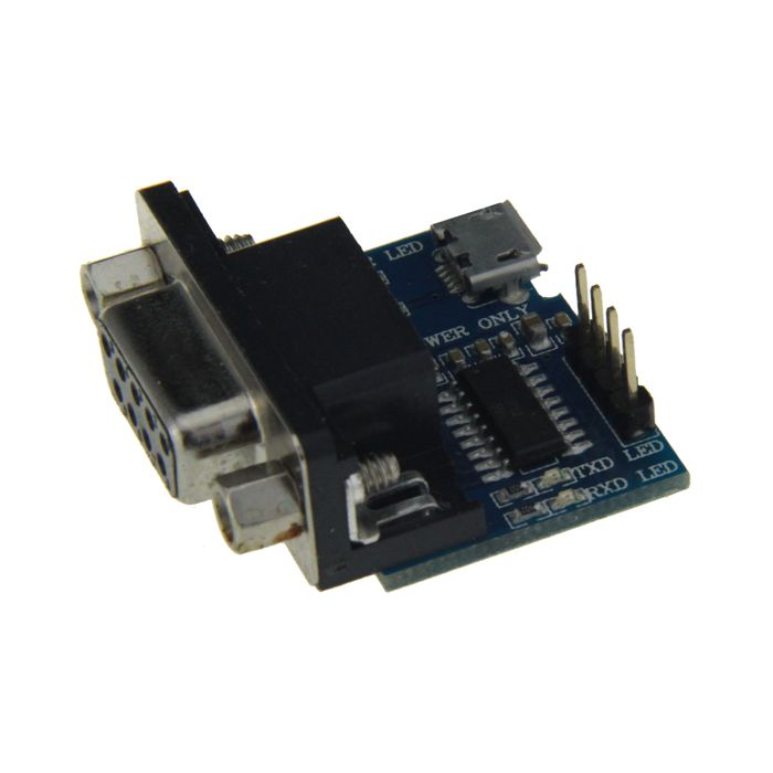 RS232 Serial Port Express Card Adapter - Blue + Black + Silver. Color: Blue + black + silver - Material: Aluminum - Transform between RS232 and TTL - Working voltage: 3.3V-5V - Max baud rate up to 115200bps - Supports USB charging or external electricity supply - With source indicating, receiving and sending indicator light - Interface definition: VCC/GND/TXD/RXD - Comes with 4P DuPont line (21cm). Tags: #Computers/Tablets #Networking #Cables #Adapters #Computer #Cable #Adapter