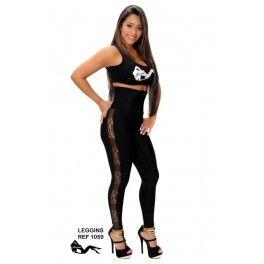 Legging de cintura alta moldeador con tul negro y plata en los laterales que lo convierten en una prenda original y sexy, estos leggings están confeccionados con lycra de 220 gramos , cremallera y fajin en powernet que moldea el abdomen