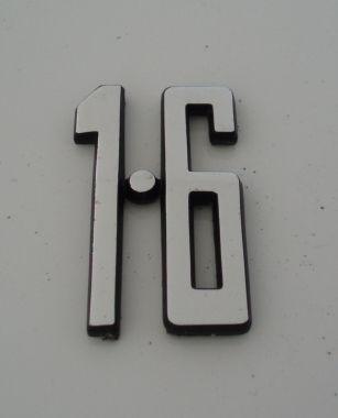 1.6 cubic inch car badge