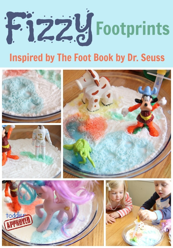 Fizzy Footprints {Dr. Seuss Virtual Book Club Blog Hop with Dr. Seuss Collection} at Toddler Approved