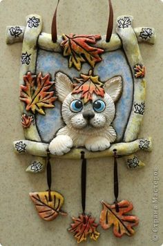 Cute tutorial for a kitty in a frame pendant