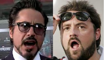 robert downey, jr., and kevin smith.
