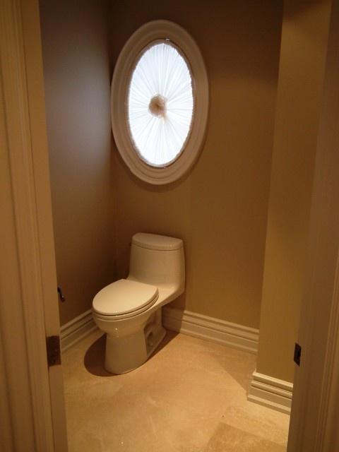 Oval Window Treatment Home Window Coverings Bathroom