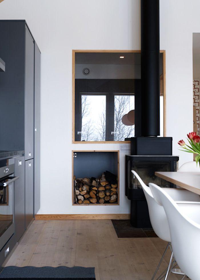 PS Arkitektur Cabin in Sweden kitchen table