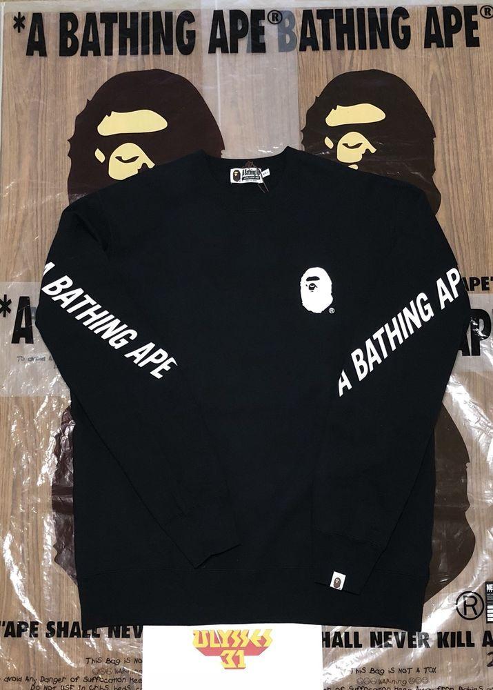 d0fd68c7 BAPE Multi Logo Crewneck Bape Hoodie 100% Authentic #BAPEMultiLogo  #BAPEHoodie