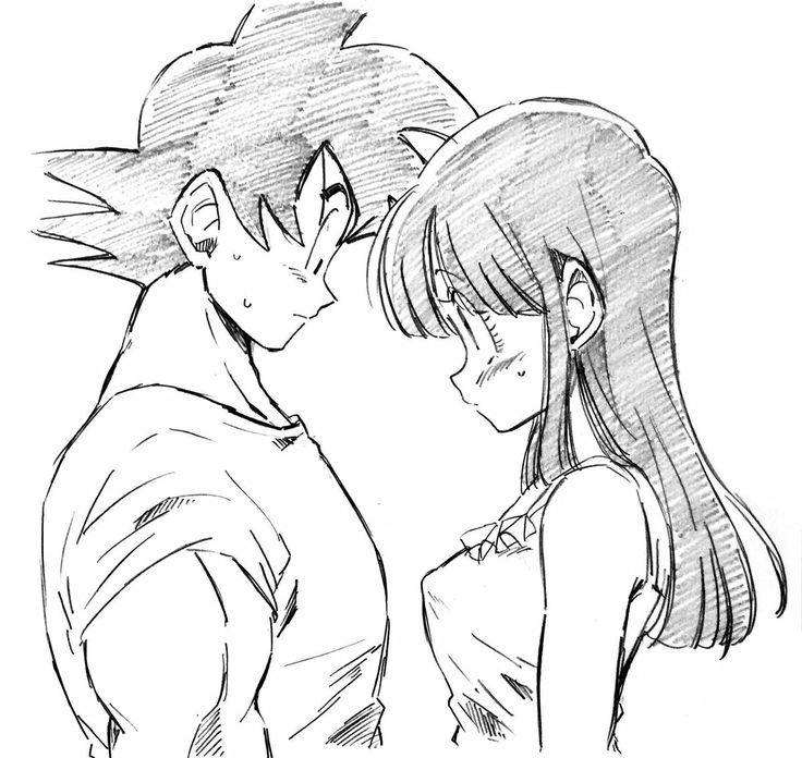 Goku and chichi♡^^