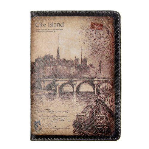 Visconti Soft Leather Passport Cover - POLO 2201 (Black)
