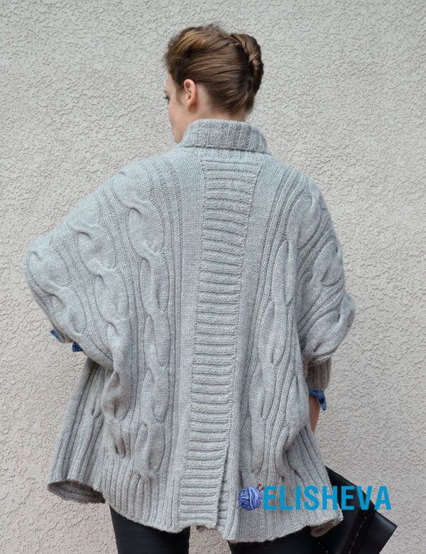 Knitting Patterns For Ponchos And Shawls : Best images about knitted ponchos shawls shrugs on