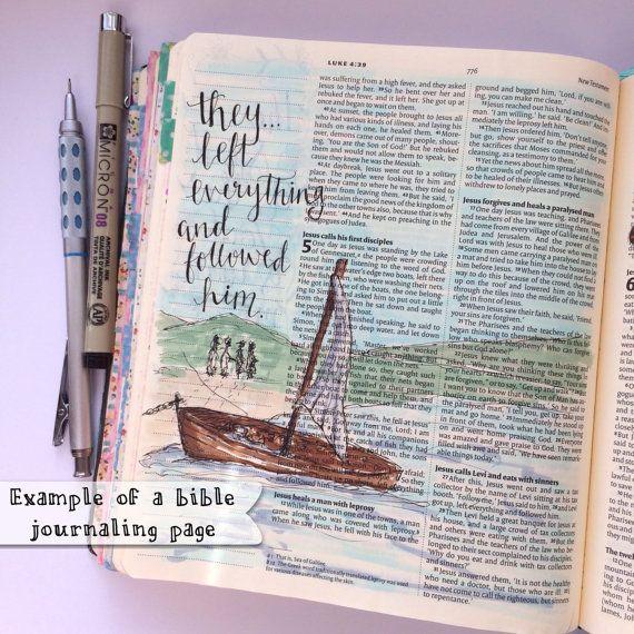 Journaling Bible Hand Painted Cover Hand by LoveLetteredByBekki