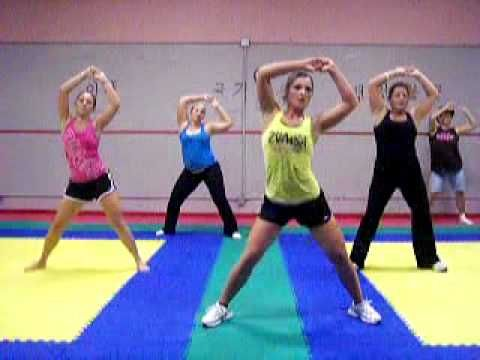 My abs hurt just from watching this! Zumba ab workout - this