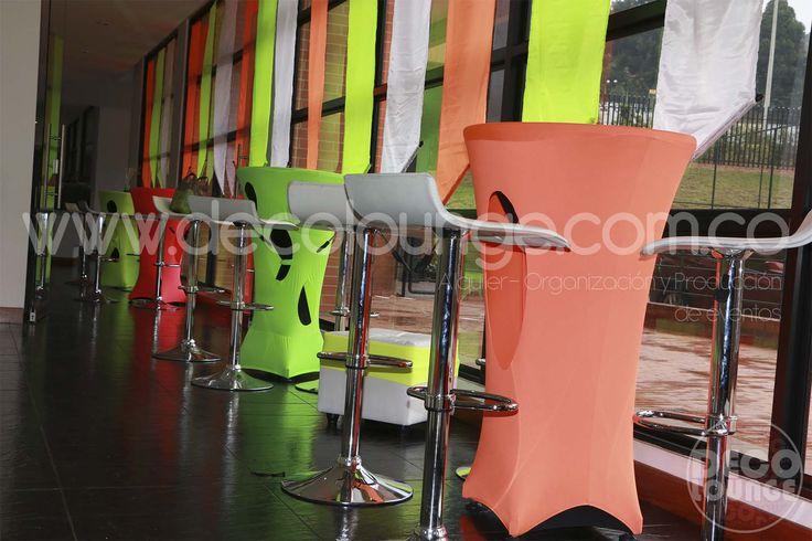 Mesas Cocteleras neon