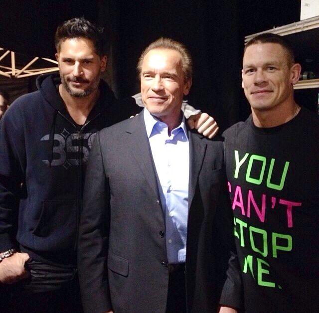Backstage WWE  Joe, Arnold, John C.    - 3/2014