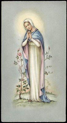 "santino-holy card""""ediz. NB serie Mo n.5 ROSA MISTICA"