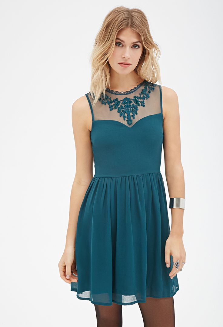 Blue dress forever 21 great