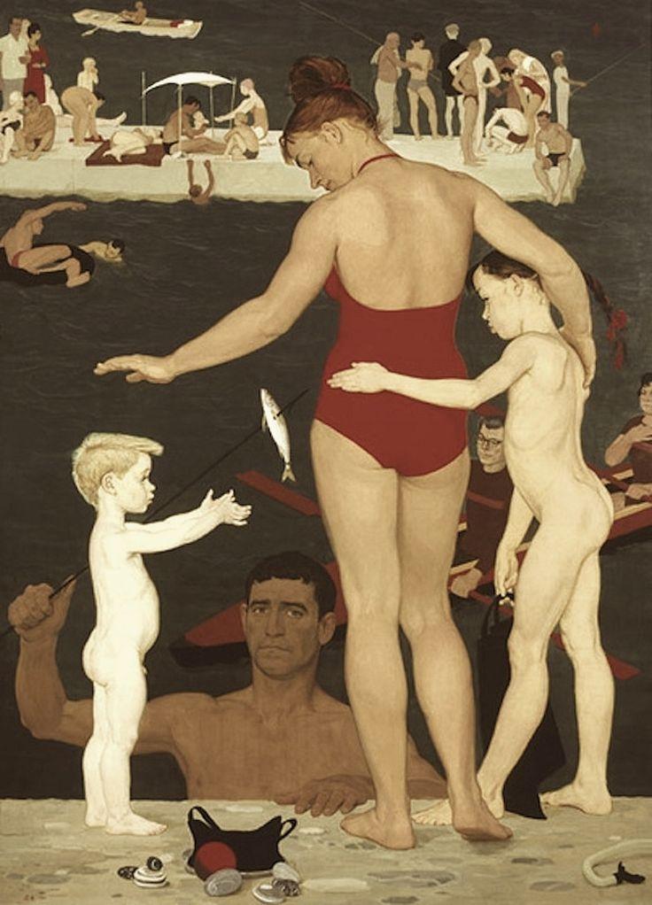 1964 AT THE SEA, by Dmitry Zhilinsky (Дмитрий Жилинский)