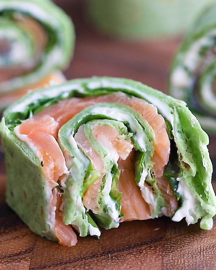 10-Minute Smoked Salmon Pinwheels
