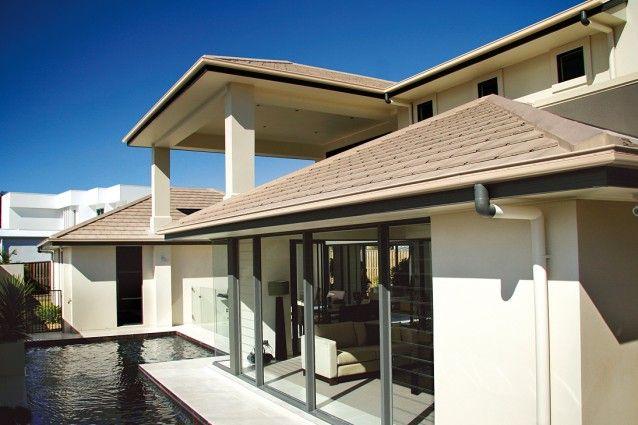 Monier concrete roof tiles – Horizon Wild Rice roof.