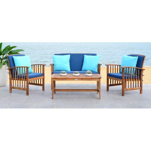 Lark Manor Alcazar 4 Piece Sofa Sesting Group With Cushions
