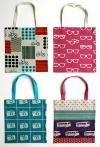 "Twenty Minute Tote | AllFreeSewing.com ""so many possibilities of colour & design, incl coordinated sets"""