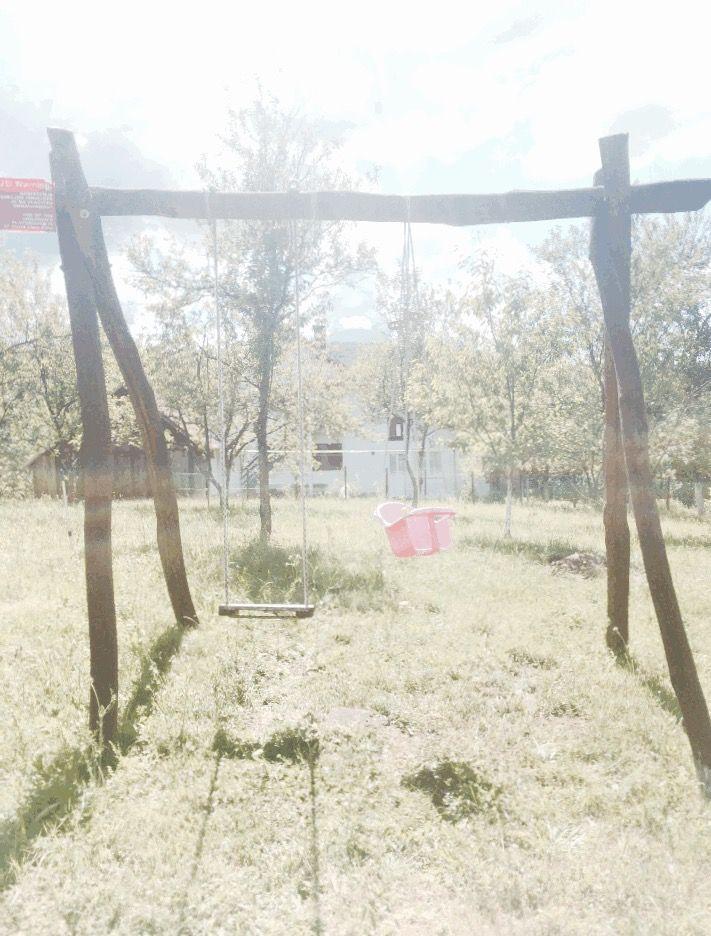 lonely swingset, seeking butts of children