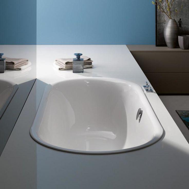 Bette Lux Oval inbouw duobad plaatstaal dikwandig ovaal 170x75x45cm zonder poten wit